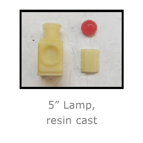 5in Lamp resin cast