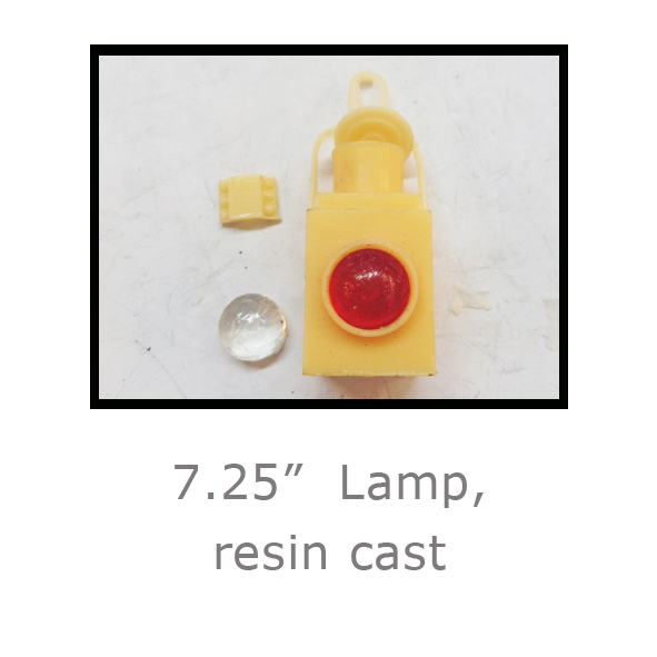 7.25in Lamp, resin cast