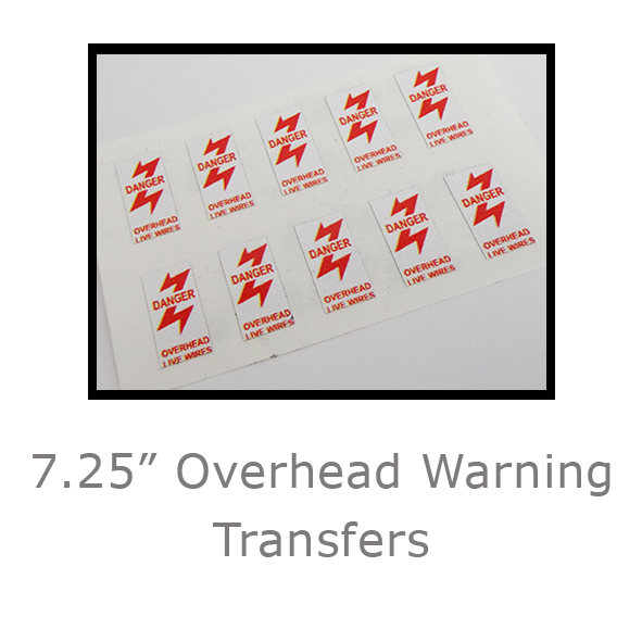 7.25in Overhead Warning transfers