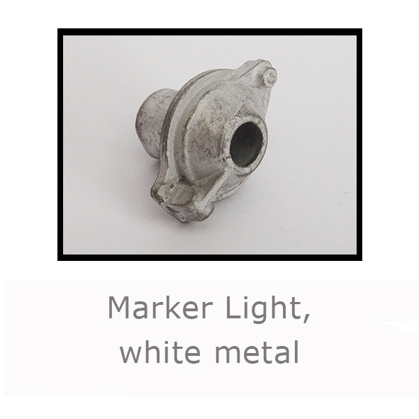 Marker Light white metal